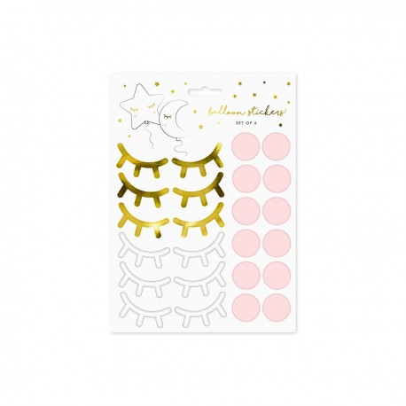 """SET OF 6 BALLOON STICKERS """"FACE"""""""