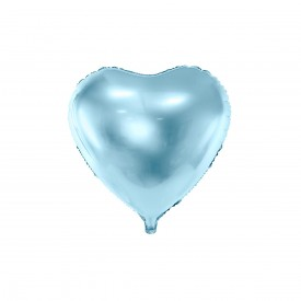 MYLAR FOIL HEART BALLOON – LIGHT BLUE