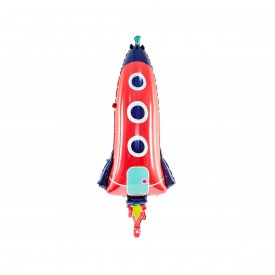 MYLAR FOIL ROCKET BALLOON - RED