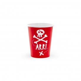 "6 ""PIRATE"" CUPS - RED"