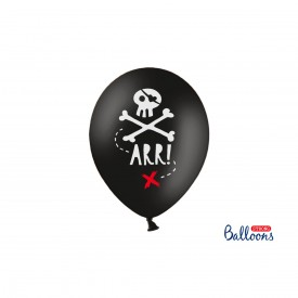 "6 BALLONS ""PIRATE""- NOIR"