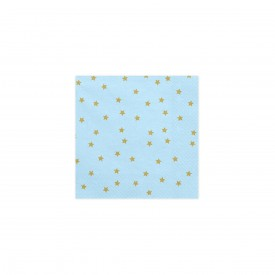 "20 PRINTED NAPKINS ""STAR"" - BLUEThese pretty napkins will be perfect for a ""stars full of eyes"" theme !! Size: 33 x 33 cm"
