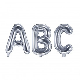 SMALL MYLAR FOIL LETTER BALLOON – SILVER