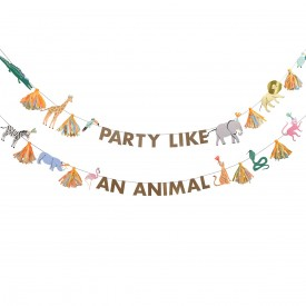 """PARTY LIKE AN ANIMAL"" GARLAND"