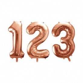 LARGE NUMBERED BIRTHDAY BALLOON – ROSE GOLD