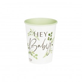 "8 ""HEY BABY"" CUPS - BOTANICAL"