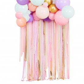 "KIT FOR GARLAND OF BALLOONS + CURTAIN OF ""PASTEL"" RIBBONS"