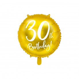 MYLAR FOIL BALLOON - 30TH BIRTHDAY