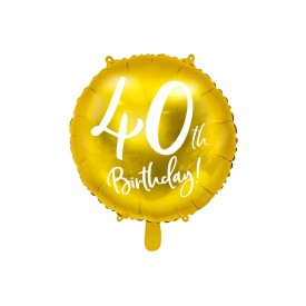 MYLAR FOIL BALLOON - 40TH BIRTHDAY