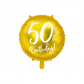 MYLAR FOIL BALLOON - 50TH BIRTHDAY