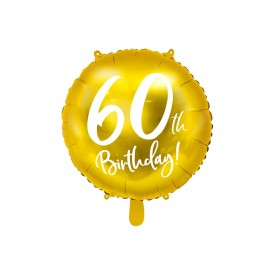 MYLAR FOIL BALLOON - 60TH BIRTHDAY