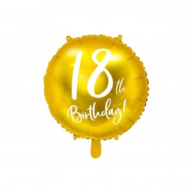 MYLAR FOIL BALLOON - 18TH BIRTHDAY