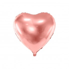 MYLAR FOIL HEART BALLOON – ROSE GOLD