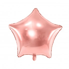 MYLAR FOIL STAR BALLOON – ROSE GOLD