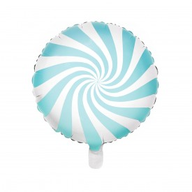 FOIL ROUND BALLOON CANDY - LIGHT BLUE