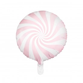 FOIL ROUND BALLOON CANDY - LIGHT PINK