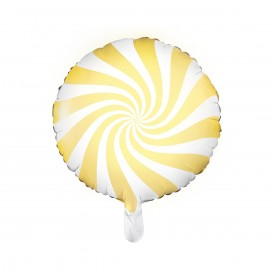 FOIL ROUND BALLOON CANDY - YELLOW