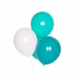 10 LATEX BALLOONS – TURQUOISE