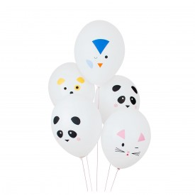 5 PRINTED BALLOONS – MINI ANIMALS