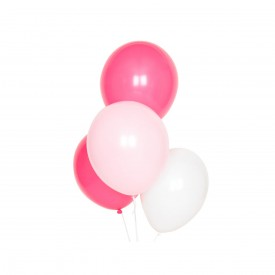 10 latex balloon - Pink