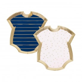 8 body plates - pink and blue