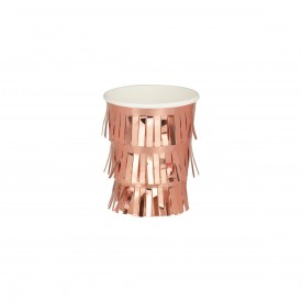 8 FRINGED CUPS - ROSE GOLD