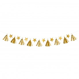 STARS AND TASSEL GARLAND - GOLD