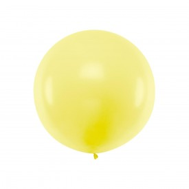 GIANT LATEX BALLOON - PASTEL YELLOW