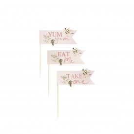 12 CAKE TOPPERS - TEA TIME