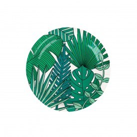8 PLATES - TROPICALES LEAVES