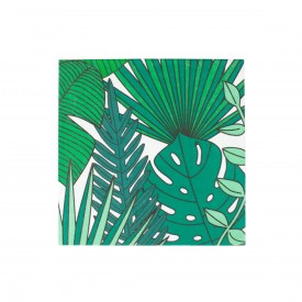 20 NAPKINS - TROPICALES LEAVES