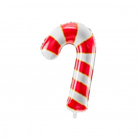 """""""SUGAR CANE"""" MYLAR BALLOON - RED, WHITE AND GOLD"""