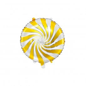 FOIL ROUND BALLOON CANDY - GOLD
