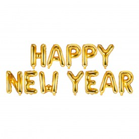 "MYLAR FOIL ""HAPY NEW YEAR"" BALLOON – GOLD"