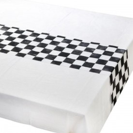 "TABLE RUNNER ""RACETRACK - BLACK AND WHITE"