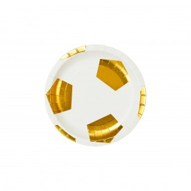 "12 PLATES ""FOOTBALL""- GOLD"