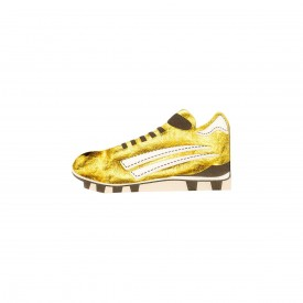 "12 NAPKINS ""FOOTBALL BOOT"" - GOLD"