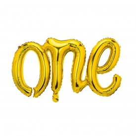 "MYLAR FOIL ""ONE"" BALLOON - GOLD"