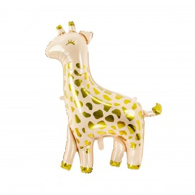 GIRAFFE FOIL BALLOON - WHITE AND GOLDThis beautiful elephant will be perfect to give a elegant touch to your party.