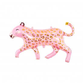 LEOPARD FOIL BALLOON - PINK AND GOLD