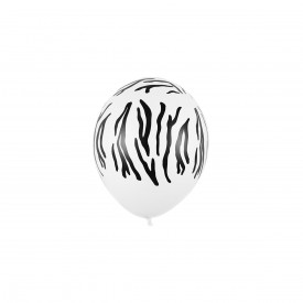 ZEBRA PRINTED BALLOON - WHITE AND BLACK