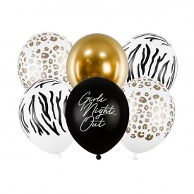 6 PRINTED BALLOONS - SAFARI CHIC