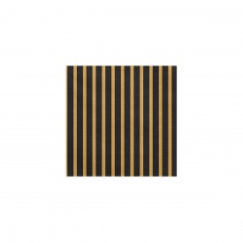 20 NAPKINS - BLACK AND GOLD
