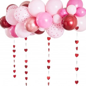 MINI BALLOON ARCH – PINK AND RED