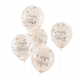 5 CONFETTIS BALLOON - BABY IN BLOOM