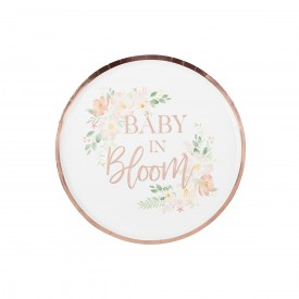 """8 PLATES """"BABY IN BLOOM"""" - ROSE GOLD"""