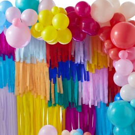 BALLOON AND STREAMER BRIGHTS RAINBOW PARTY BACKDROP