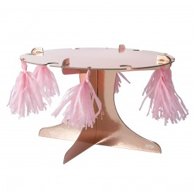 CAKE STAND WITH DRINK HOLDERS - ROSE GOLD