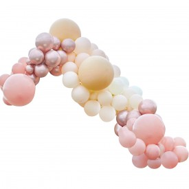 LUXE BALLOON ARCH - PEACH, NUDE AND OR ROSE