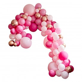 LUXE BALLOON ARCH - PINK AND ROSE GOLD